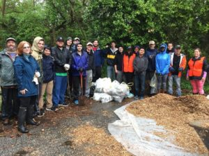 Herring Run stream clean up April 2017