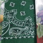 Cotton bandana used as napkin