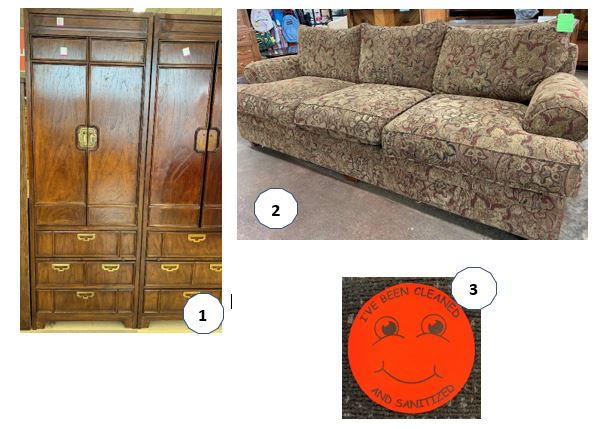 Shopping for furniture at a thrift store