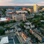 Aerial view of Towson