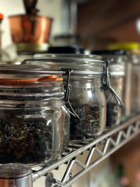 tea in jars